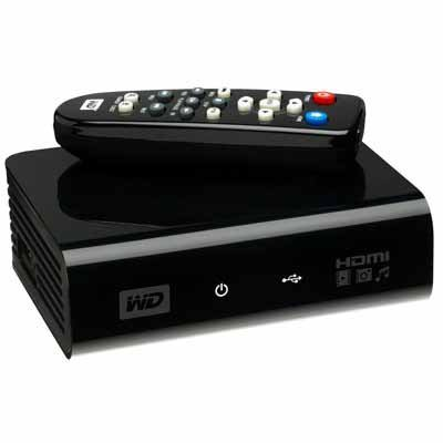 WESTERN DIGITAL  WDAVP00BE TV HD Media Player Schwarz (0582095)